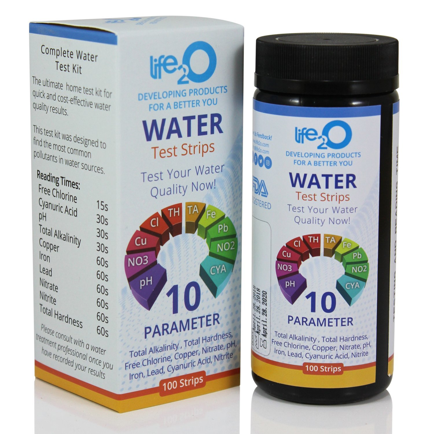 complete 10 in 1 drinking water test kit 100ct best home water