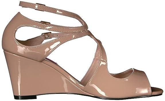 2782b70ff28f Pleaser Women s Kim04 Cr Wedge Sandal  Amazon.in  Shoes   Handbags