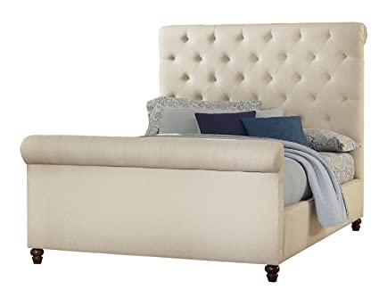 Virginia House 154 663 Slater Bed, King, Cottage Rustic White