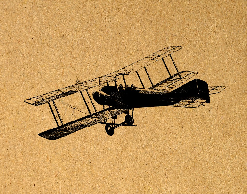 Amazon.com: Antique Airplane Print with a Real Vintage Plane ...