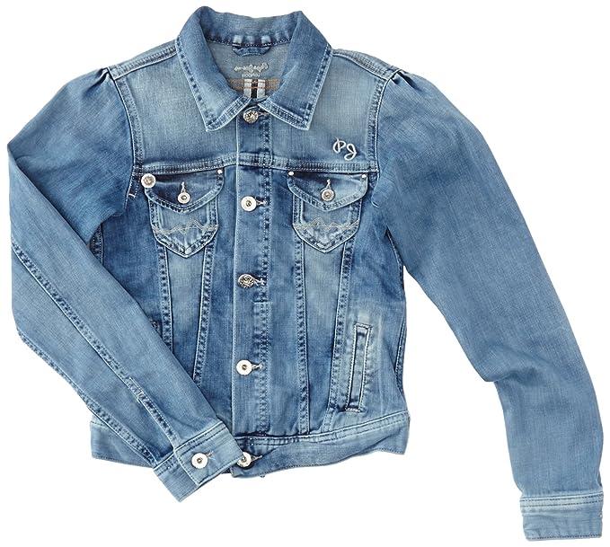 Pepe Jeans New Berry, Chaqueta para Niñas, Azul (Denim Oz Med Sky Blue