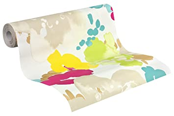 Esprit Home Tapete Buenos Aires Mustertapete Floral Signalweiss