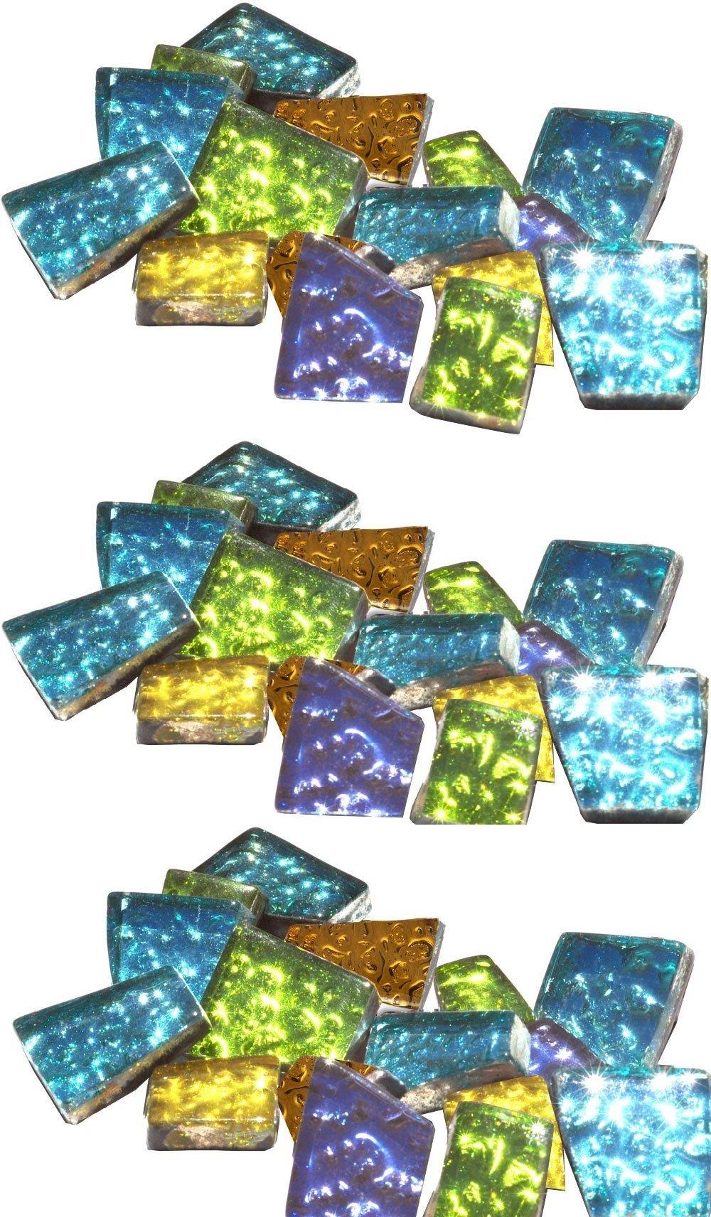 Mosaic Mercantile Sparkle Assorted Mosaic Tile, 1/2-Pound (3 Pack)