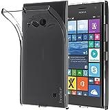 Custodia Cover Microsoft Nokia Lumia 730 / 735, iVoler Microsoft Nokia Lumia 730 / 735 Silicone Caso Molle di TPU Cristallo Trasparente Sottile Anti Scivolo Case Posteriore Della Copertura Della Protezione Anti-urto per Microsoft Nokia Lumia 730 / 735 (Crystal Clear)- 18 Mesi di Garanzia