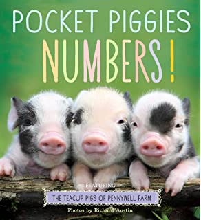 Amazon pocket piggies opposites featuring the teacup pigs of pocket piggies numbers featuring the teacup pigs of pennywell farm voltagebd Choice Image