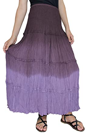 1a364d80b6 Image Unavailable. Image not available for. Color: Sacred Threads Purple  Long Skirt ...
