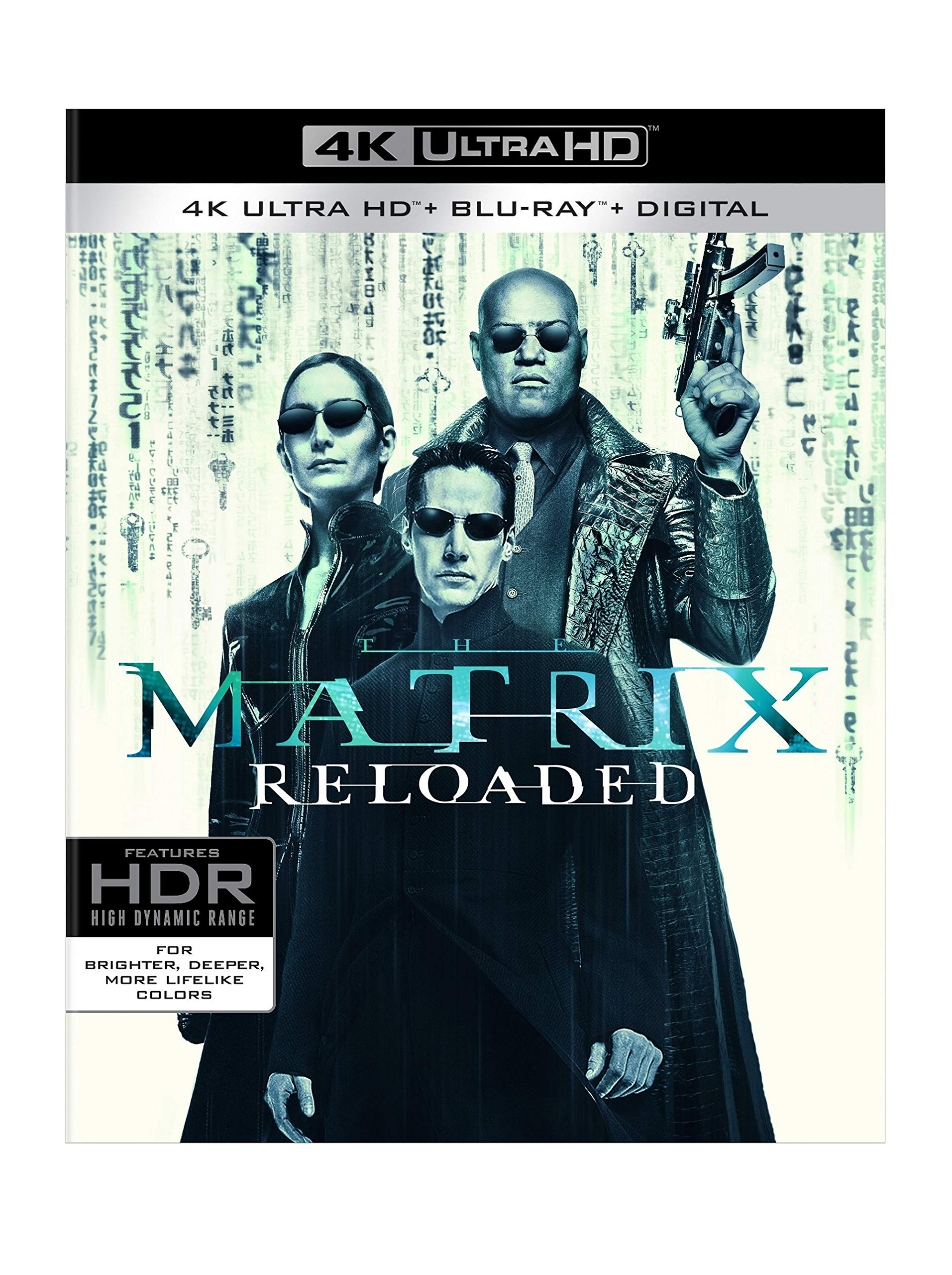 4K Blu-ray : The Matrix Reloaded (With Blu-ray, Black, 4K Mastering, Ultraviolet Digital Copy, 3 Pack)