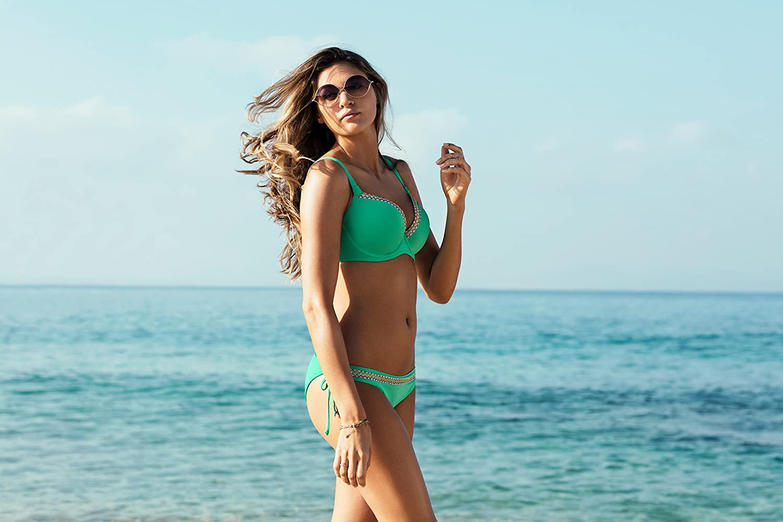 Freya Damen Deco Underwire Molded Bikini Top Bikinioberteil