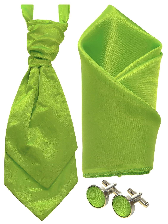 Boys Matching Cravat, Cufflinks and Pocket Square Handkerchief Sets