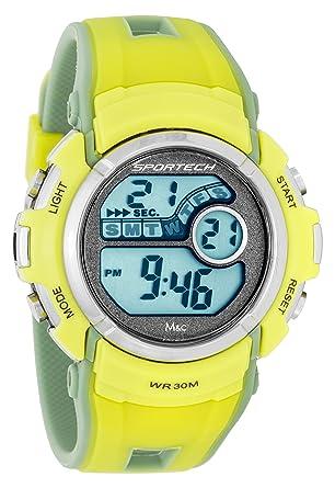Unisex Sportech | El amarillo y el del deporte del reloj Digital de la moneda | SP10114: Amazon.es: Relojes