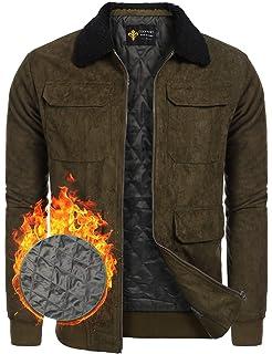 COOFANDY Men s Quilt Lined Faux Suede Sherpa Jacket Winter Outwear Trucker  Coat 4cf5c0cfc