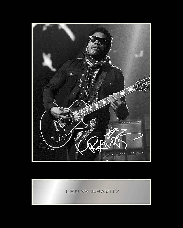 Lenny Kravitz Photo d/édicac/ée encadr/ée des performances