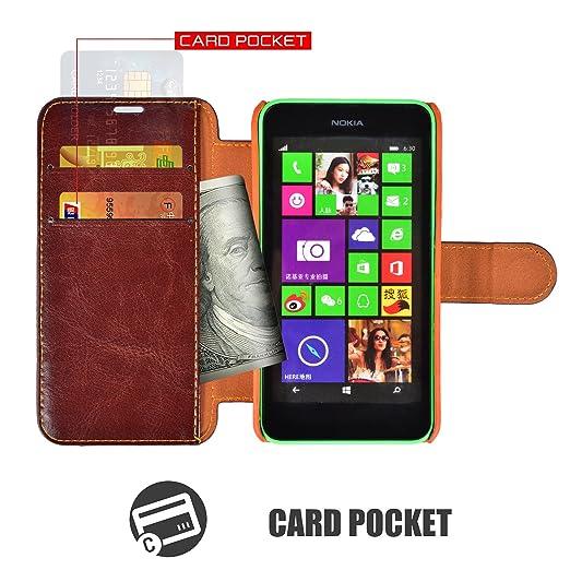 43 opinioni per Custodia Nokia Lumia 630- Cover Nokia Lumia 635- Mulbess Custodia In Pelle Con