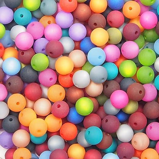 20 Stück Polarisperlen rund Perlenmix Perlenmischung schwarz lila *NEU*