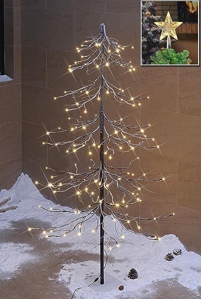 Amazoncom Lightshare Snowy Fir Tree 144 Led Lights For Indoor