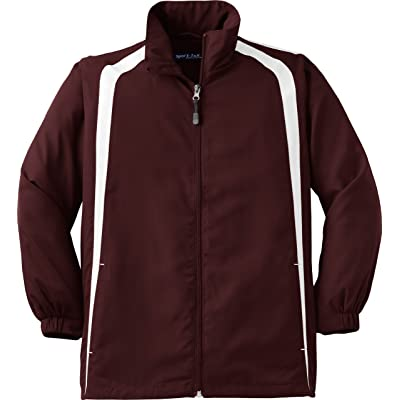 Sport-Tek - Youth Colorblock Raglan Jacket. YST60 - X-Small - Maroon / White