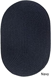 product image for Rhody Rug Woolux Wool Oval Braided Rug (5' x 8') - 5' x 8' Oval Navy