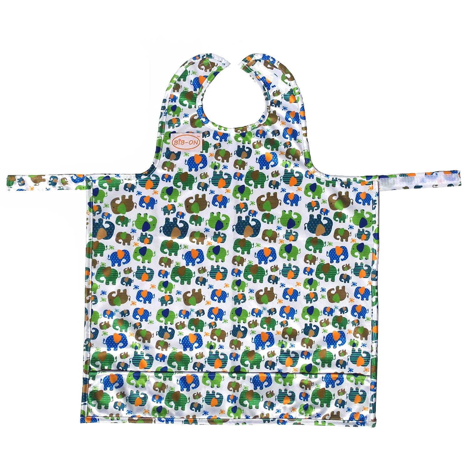 c750b00c6fd56 BIB-ON, A New, Full-Coverage Bib and Apron Combination for Infant, Baby,  Toddler Ages 0-4+. One Size...