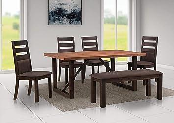 Peachy Amazon Com Mollai Collection 6 Pc Dining Table 4 Chairs 1 Creativecarmelina Interior Chair Design Creativecarmelinacom