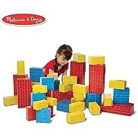 Melissa & Doug Deluxe Jumbo Cardboard Blocks (Developmental Toy, Extra-Thick Cardboard Construction, 40 Pieces, 31.75 cm H × 17.78 cm W × 48.26 cm L)