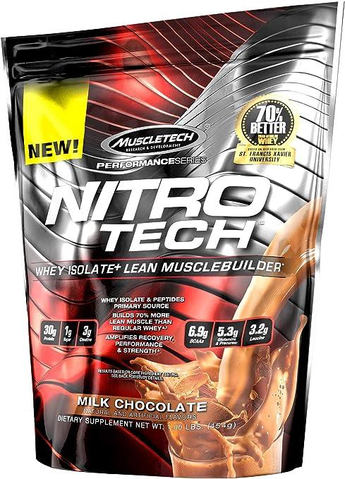 Muscletech Performance Series Nitro-Tech Milk Chocolate - 453 gr