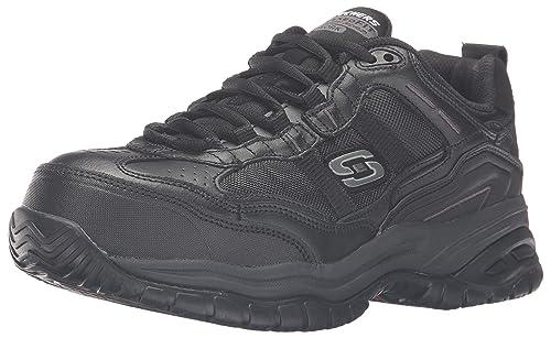 Skechers for Work Men's Resterly Work Shoe, Black, 11 M US
