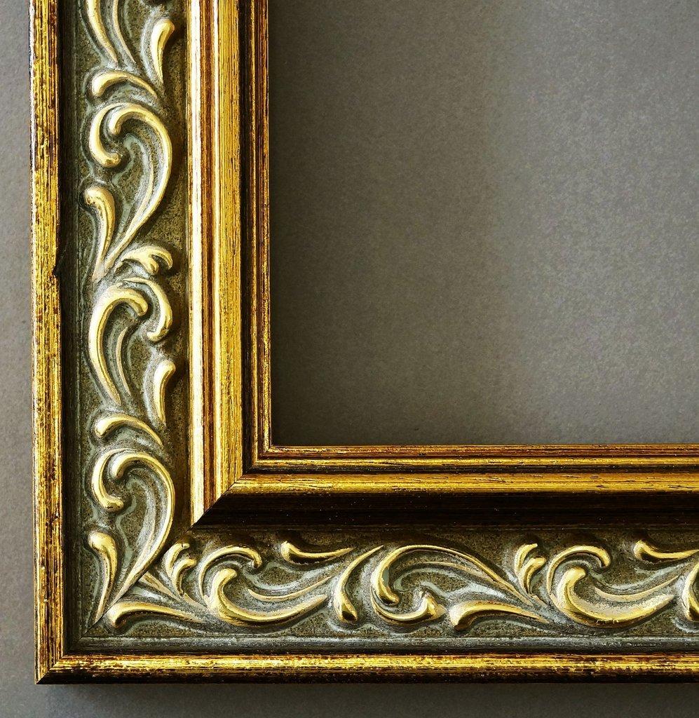 Bilderrahmen Verona Gold 4,4 - Über 14000 Größen - 33 x 46 cm - mit Normalglas - Maßanfertigung ohne Aufpreis