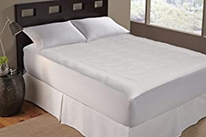 Serta   TempaCool All Season Electric Heating Mattress Pad, Hypoallergenic & Stain Resistant, Queen, White