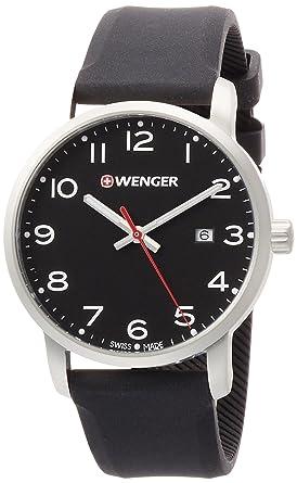WENGER Reloj Analogico para Unisex de Cuarzo con Correa en Silicona 01.1641.101: Amazon.es: Relojes