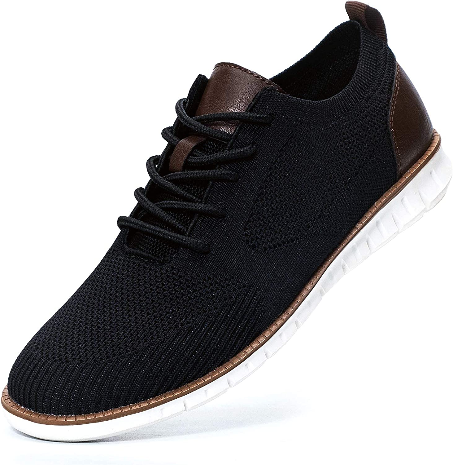 Men/'s Oxford Leather Casual Shoes Outdoor Lace Up Sneakers Breathable Work Shoes