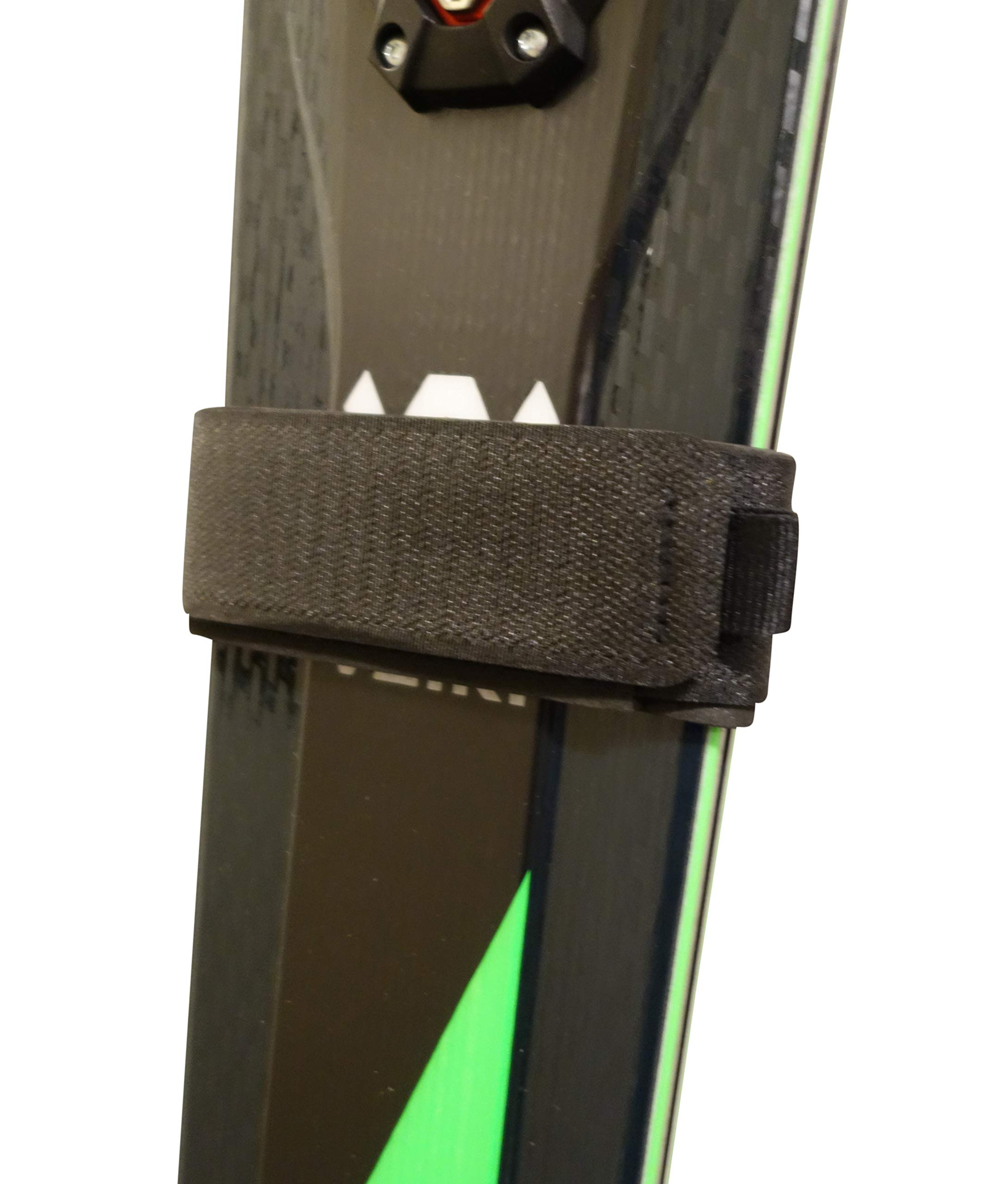 Mt Sun Gear Ski Wraps Hook and Loop ski Straps for Race, Powder, Fat skis. 2 Per Pack. Light Strong.