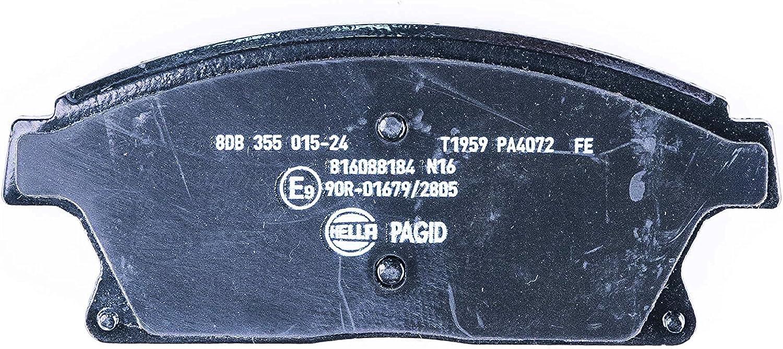 Hella Pagid 8db 355 015 241 Bremsbelagsatz Scheibenbremse Vorderachse Auto
