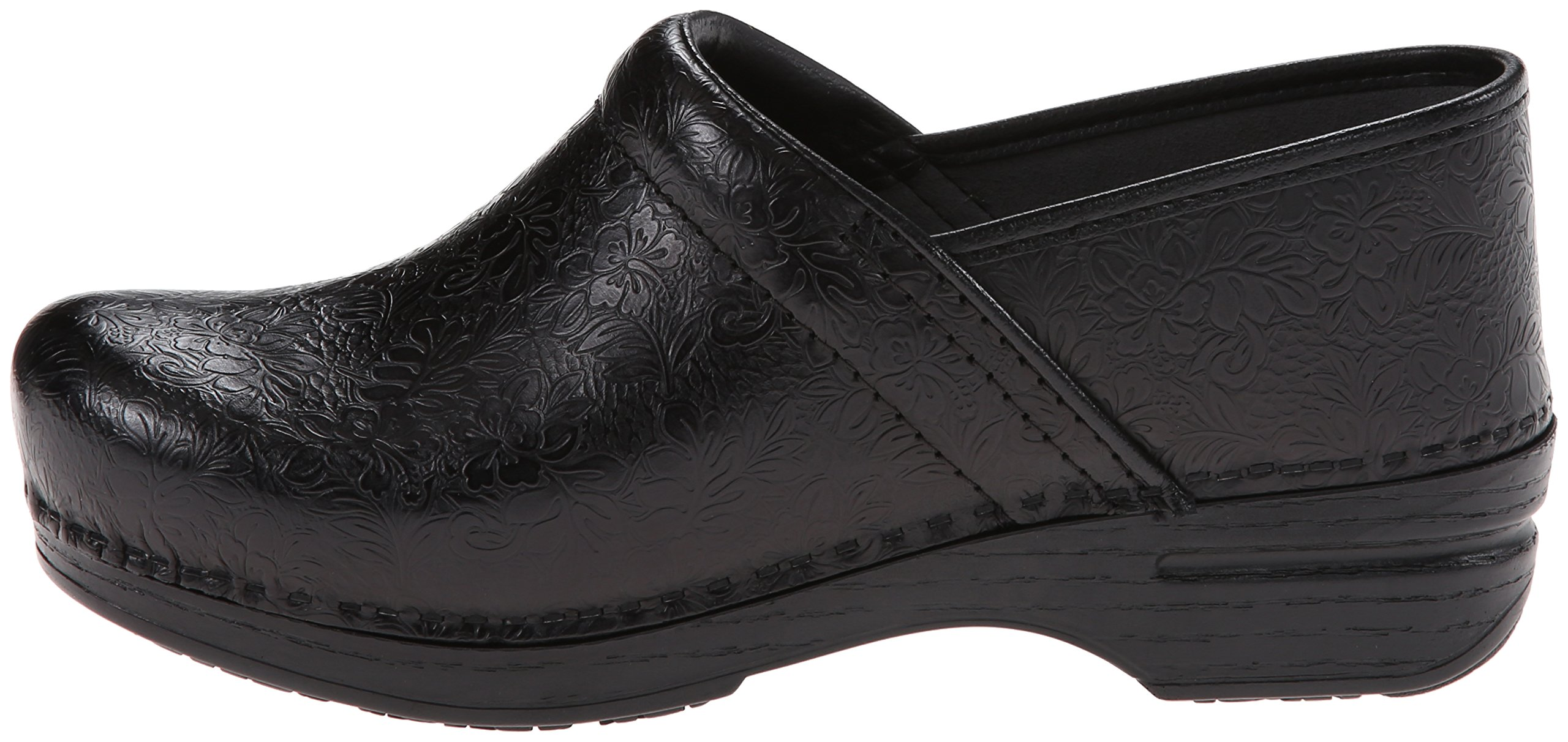 Dansko Women's Pro XP Mule,Black Floral Tooled,39 EU/8.5-9 M US by Dansko (Image #5)