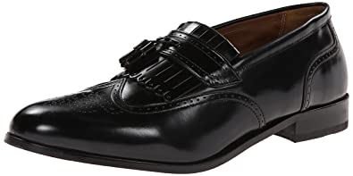 Florsheim Men's Brinson Kiltie Tassel Slip-On Loafer Shoe, black, ...