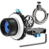 Neewer A-B Stop Follow Focus C2 with Gear Ring Belt for DSLR Cameras Such as Nikon, Canon, Sony DV/Camcorder/Film/Video…