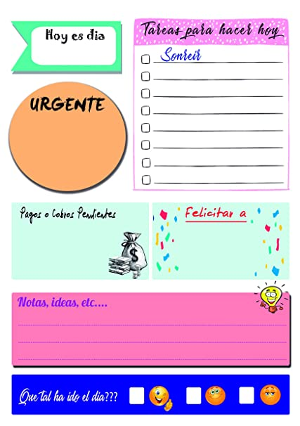 Planning, Vade, bloc de notas,Planificador agenda diaria A5 ...