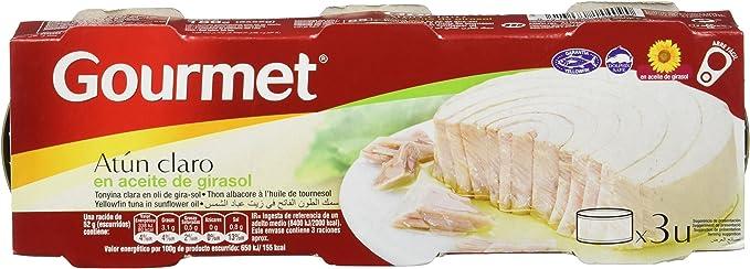 Gourmet - Atún en aceite de girasol - 3 x 52 g - [Pack de 5 ...