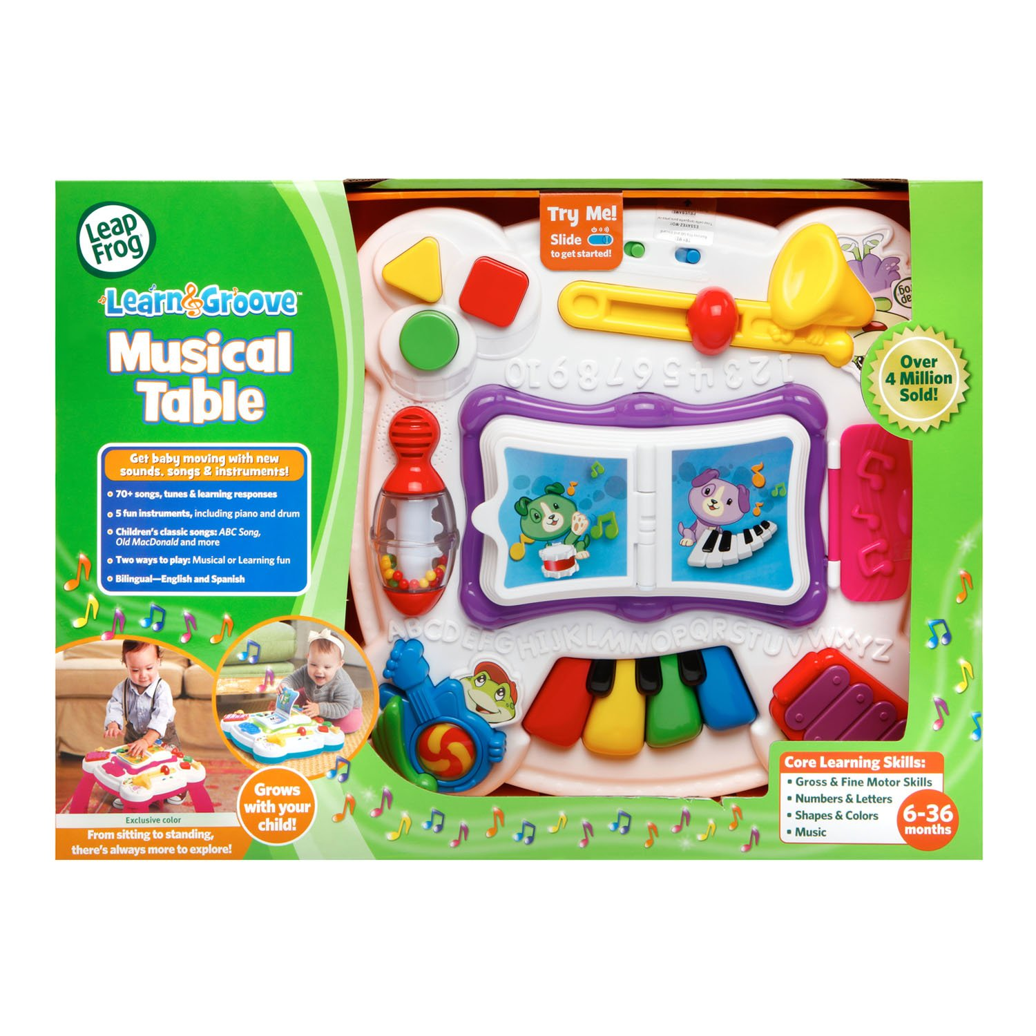 LeapFrog Learn and Groove Musical Table Activity Center Amazon Exclusive, Pink by LeapFrog (Image #7)