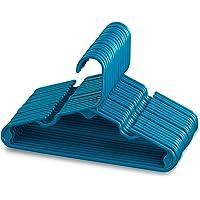Sharpty Children's Hangers Plastic, Kids Hangers Ideal for Everyday Standard Use, Baby Hangers Kids 20 Pack (Blue, 20…