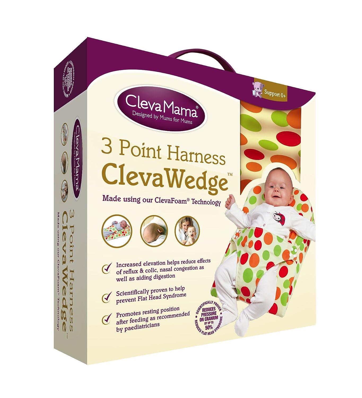 Clevamama ClevaWedge Cojín Anticólicos Bebés - Cojín Antivuelco con Arnés: Amazon.es: Bebé