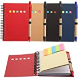 Maxdot 4 Pieces Kraft Paper Steno Pocket Business