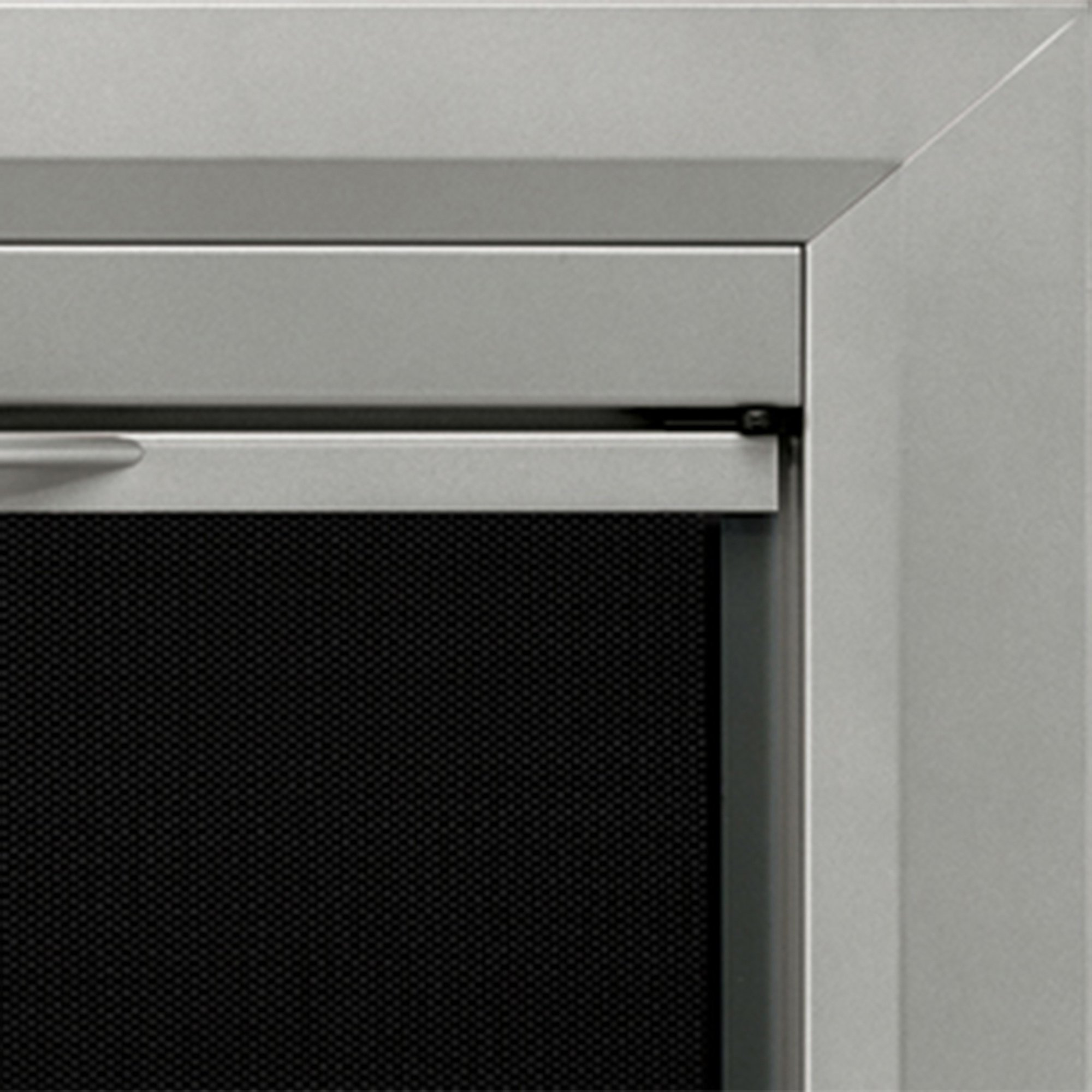 Pleasant Hearth CB-3300 Colby Fireplace Glass Door, Sunlight Nickel, Small by Pleasant Hearth
