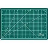 "US Art Supply 12"" x 18"" GREEN/BLACK Professional Self Healing 5-Ply Double Sided Durable Non-Slip PVC Cutting Mat Great for Scrapbooking, Quilting, Sewing and all Arts & Crafts Projects"