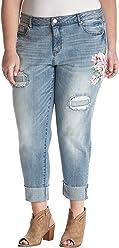 22422724e32df Ruff Hewn Plus Size Painted Floral Jeans