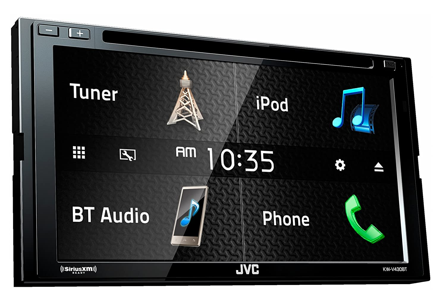 "Amazon.com: JVC KW-V430BT 6.8"" In-Dash 2-Din Car DVD Receiver w/Bluetooth  iPhone/Android/USB: Cell Phones & Accessories"