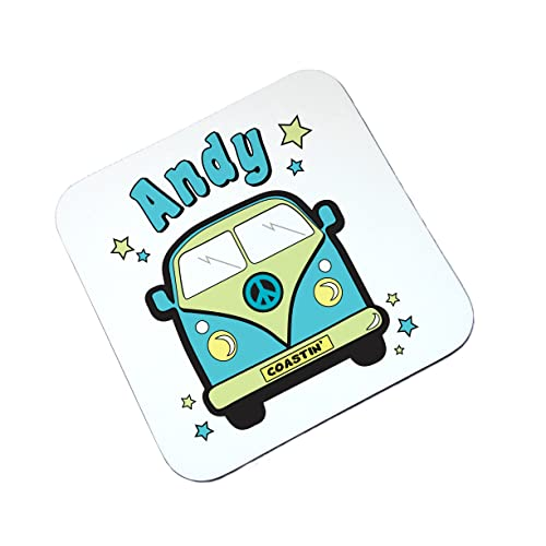The Supreme Gift Company Personalised Camper Van Mint Collectors Wooden Glossy Coaster VW Gift