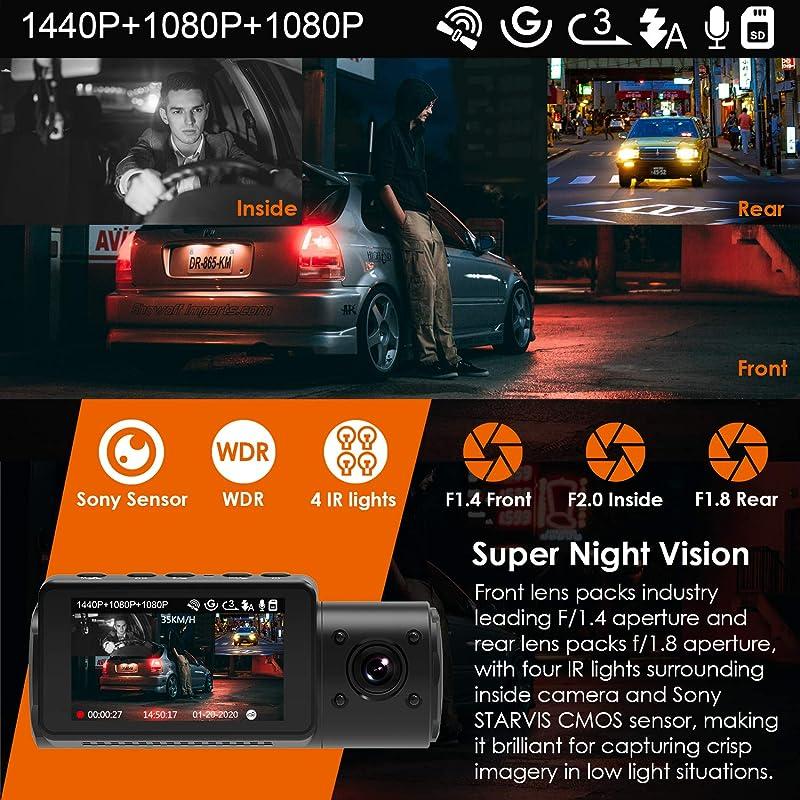 Vantrue N4 3 Channel Dash Cam 3