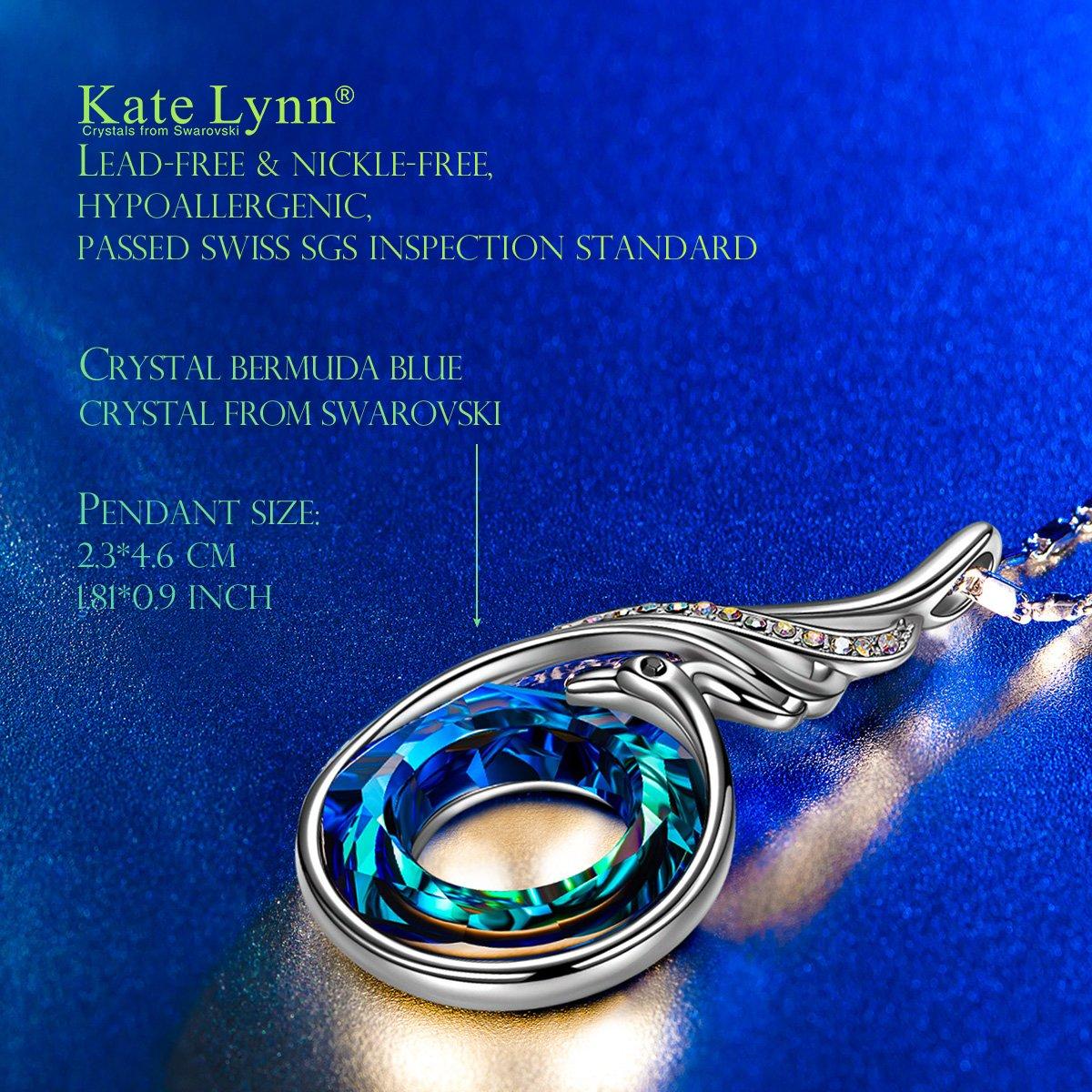 b1c6afdf75fd Kate Lynn Nirvana de Phoenix Collar Princesa para Mujeres con Cristales  Swarovski Azul Regalos Navidad Joyas Cumpleaños Aniversario Día de San  Valentín ...