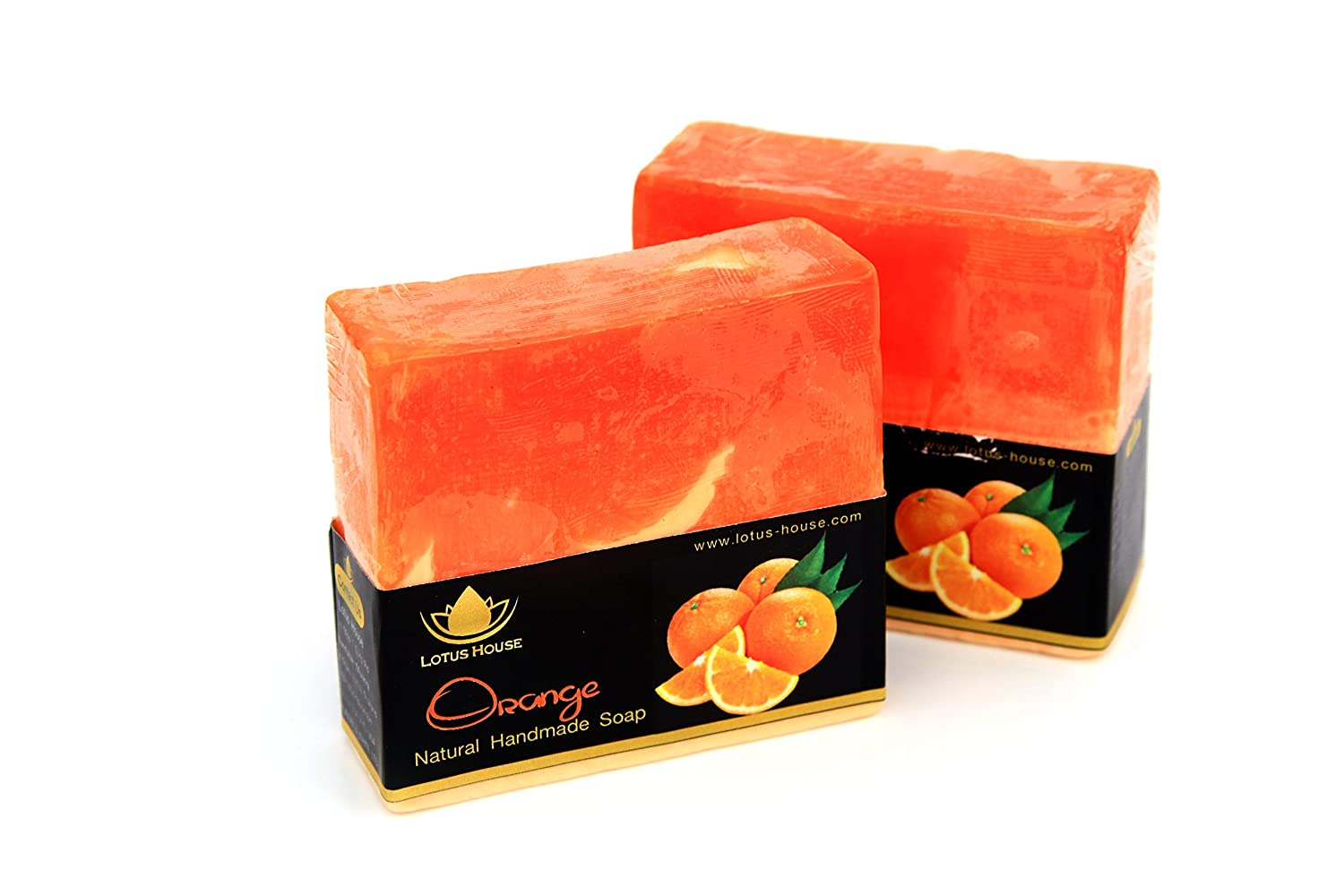 Lotus House Orange Natural Handmade Soap (300g) / 3 Bars SA0068