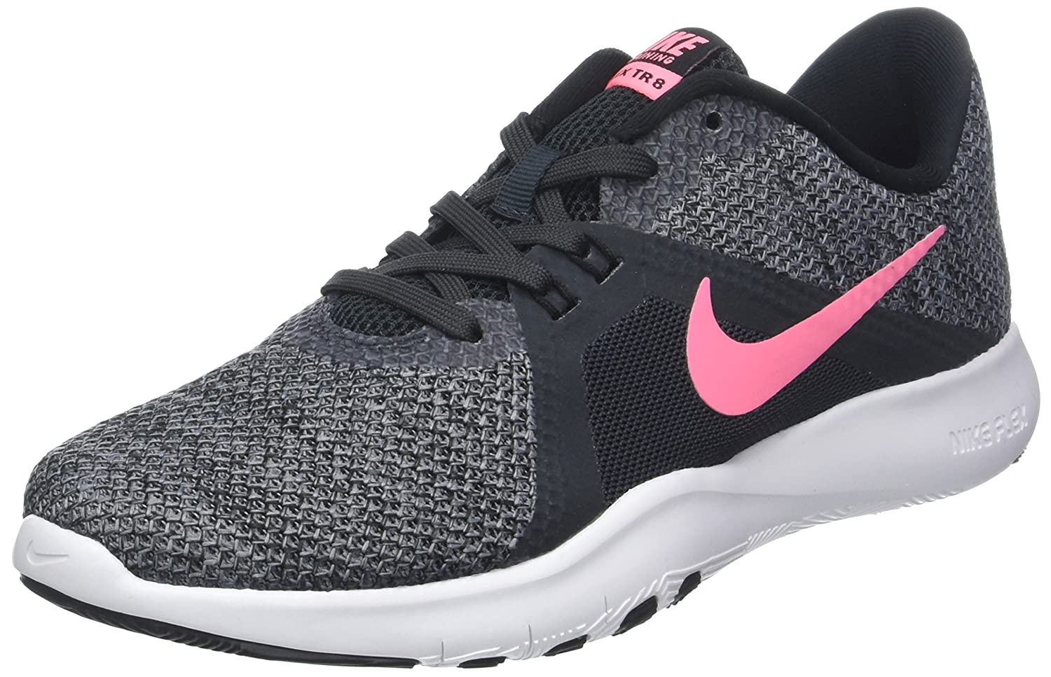 NIKE Women's Flex 8 Cross Trainer B0761YF83T 9.5 B(M) US|Anthracite/Sunset Pulse/Black